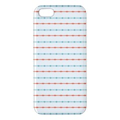 Line Polka Dots Blue Red Sexy Iphone 5s/ Se Premium Hardshell Case by Mariart