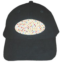 Flower Star Rose Sunflower Rainbow Smal Black Cap by Mariart