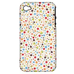 Flower Star Rose Sunflower Rainbow Smal Apple Iphone 4/4s Hardshell Case (pc+silicone) by Mariart