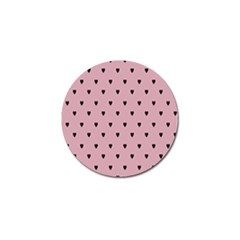 Love Black Pink Valentine Golf Ball Marker by Mariart