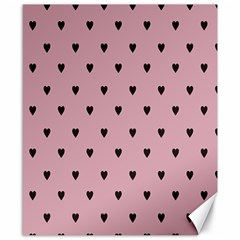 Love Black Pink Valentine Canvas 8  X 10  by Mariart