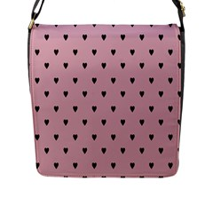 Love Black Pink Valentine Flap Messenger Bag (l)  by Mariart