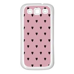 Love Black Pink Valentine Samsung Galaxy S3 Back Case (white) by Mariart