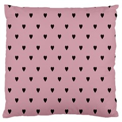 Love Black Pink Valentine Standard Flano Cushion Case (one Side) by Mariart