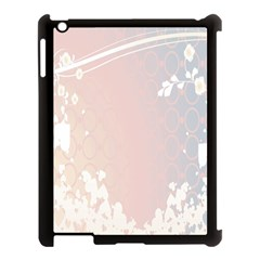 Love Heart Flower Purple Sexy Rose Apple Ipad 3/4 Case (black) by Mariart
