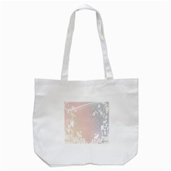 Love Heart Flower Purple Sexy Rose Tote Bag (white) by Mariart