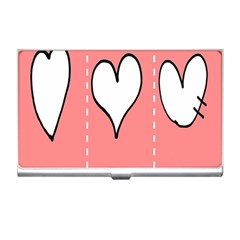 Love Heart Valentine Pink White Sexy Business Card Holders by Mariart