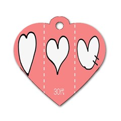 Love Heart Valentine Pink White Sexy Dog Tag Heart (one Side) by Mariart