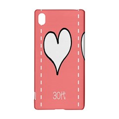 Love Heart Valentine Pink White Sexy Sony Xperia Z3+ by Mariart