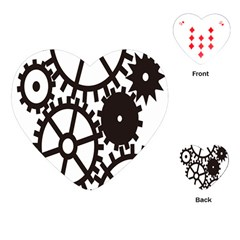 Machine Iron Maintenance Playing Cards (heart)  by Mariart