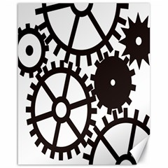 Machine Iron Maintenance Canvas 16  X 20   by Mariart