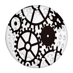 Machine Iron Maintenance Ornament (round Filigree) by Mariart