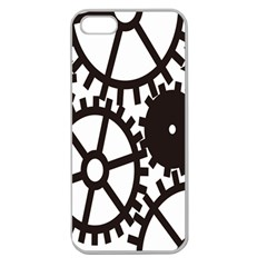 Machine Iron Maintenance Apple Seamless Iphone 5 Case (clear) by Mariart