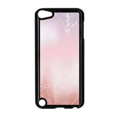 Love Heart Pink Valentine Flower Leaf Apple Ipod Touch 5 Case (black) by Mariart