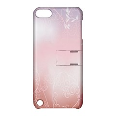 Love Heart Pink Valentine Flower Leaf Apple Ipod Touch 5 Hardshell Case With Stand by Mariart