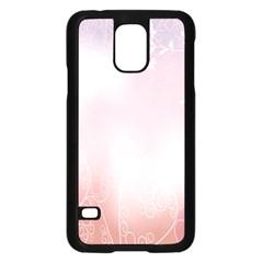 Love Heart Pink Valentine Flower Leaf Samsung Galaxy S5 Case (black) by Mariart