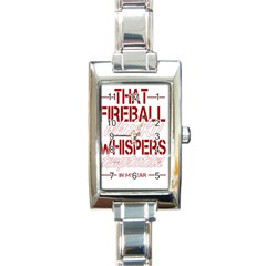 Fireball Whiskey Humor  Rectangle Italian Charm Watch by crcustomgifts