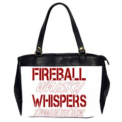 Fireball Whiskey Humor  Office Handbags (2 Sides)  by crcustomgifts