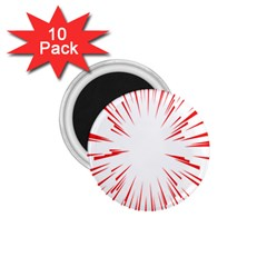 Line Red Sun Arrow 1 75  Magnets (10 Pack)  by Mariart