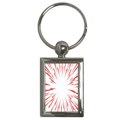 Line Red Sun Arrow Key Chains (rectangle)