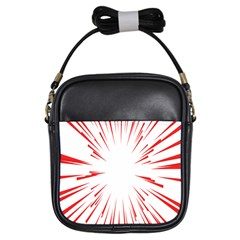 Line Red Sun Arrow Girls Sling Bags by Mariart