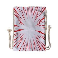 Line Red Sun Arrow Drawstring Bag (small) by Mariart