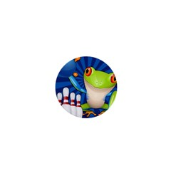 Tree Frog Bowling 1  Mini Buttons by crcustomgifts