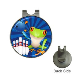 Tree Frog Bowling Hat Clips With Golf Markers by crcustomgifts