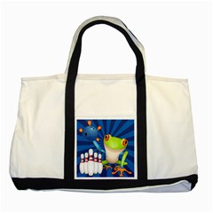 Tree Frog Bowling Two Tone Tote Bag by crcustomgifts