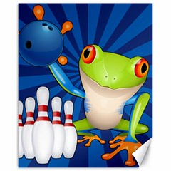 Tree Frog Bowling Canvas 16  X 20