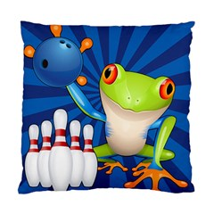 Tree Frog Bowling Standard Cushion Case (one Side) by crcustomgifts