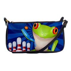 Tree Frog Bowling Shoulder Clutch Bags by crcustomgifts