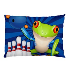Tree Frog Bowling Pillow Case (two Sides) by crcustomgifts
