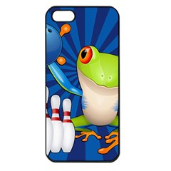 Tree Frog Bowling Apple Iphone 5 Seamless Case (black) by crcustomgifts