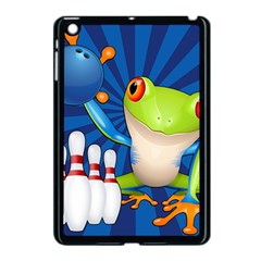 Tree Frog Bowling Apple Ipad Mini Case (black) by crcustomgifts