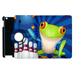 Tree Frog Bowling Apple Ipad 3/4 Flip 360 Case by crcustomgifts