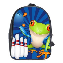 Tree Frog Bowling School Bag (xl) by crcustomgifts