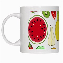 Mango Fruit Pieces Watermelon Dragon Passion Fruit Apple Strawberry Pineapple Melon White Mugs by Mariart