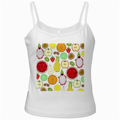 Mango Fruit Pieces Watermelon Dragon Passion Fruit Apple Strawberry Pineapple Melon Ladies Camisoles by Mariart
