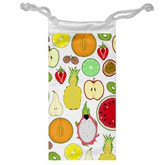 Mango Fruit Pieces Watermelon Dragon Passion Fruit Apple Strawberry Pineapple Melon Jewelry Bag by Mariart
