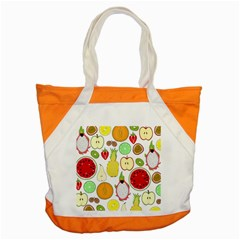 Mango Fruit Pieces Watermelon Dragon Passion Fruit Apple Strawberry Pineapple Melon Accent Tote Bag by Mariart