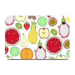 Mango Fruit Pieces Watermelon Dragon Passion Fruit Apple Strawberry Pineapple Melon Plate Mats by Mariart