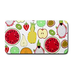 Mango Fruit Pieces Watermelon Dragon Passion Fruit Apple Strawberry Pineapple Melon Medium Bar Mats by Mariart
