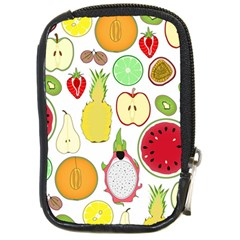 Mango Fruit Pieces Watermelon Dragon Passion Fruit Apple Strawberry Pineapple Melon Compact Camera Cases by Mariart