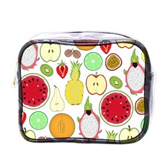 Mango Fruit Pieces Watermelon Dragon Passion Fruit Apple Strawberry Pineapple Melon Mini Toiletries Bags by Mariart