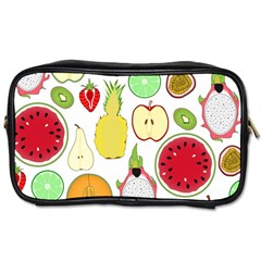 Mango Fruit Pieces Watermelon Dragon Passion Fruit Apple Strawberry Pineapple Melon Toiletries Bags 2 Side by Mariart