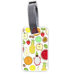 Mango Fruit Pieces Watermelon Dragon Passion Fruit Apple Strawberry Pineapple Melon Luggage Tags (one Side)  by Mariart