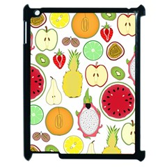 Mango Fruit Pieces Watermelon Dragon Passion Fruit Apple Strawberry Pineapple Melon Apple Ipad 2 Case (black) by Mariart