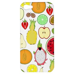 Mango Fruit Pieces Watermelon Dragon Passion Fruit Apple Strawberry Pineapple Melon Apple Iphone 5 Hardshell Case by Mariart