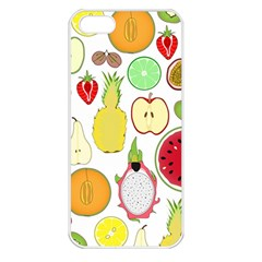 Mango Fruit Pieces Watermelon Dragon Passion Fruit Apple Strawberry Pineapple Melon Apple Iphone 5 Seamless Case (white) by Mariart